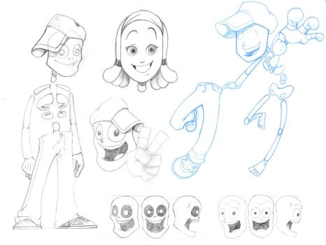 Character Design Sketches by e-camacho