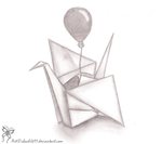 Paper crane by chachi411