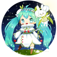 Snow Miku 2015 by Littlemay528