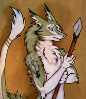 Sergal Warrior by Aquillic-Tiger