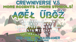 Crewniverse Font V.5 (MORE ACCENTS AND SYMBOLS!) by MaxiGamer