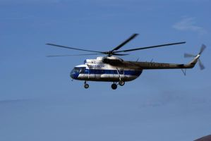RA-247-03 russian helicopter by lomapatta-stock