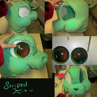 My First Fursuit Head WIP by TheStripedKit