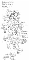 Hetalia- London 2012 Medal Count by Aug 10th by FrozenSeashell