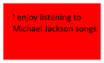 I Enjoy Listening To Michael Jackson Songs Stamp by L-fangirl-101