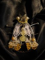 Squared Moth Brooch by SpiffsHexapodS
