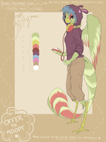 Bird Girl Anthro Adopt {closed} by here-kitty--kitty