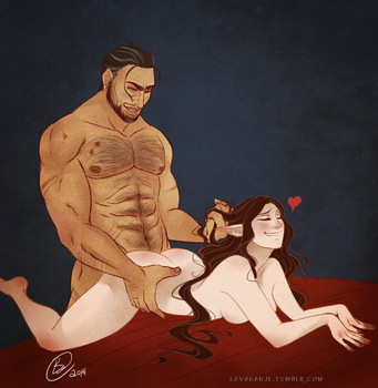 Olethriel And Ivan by Lavahanje
