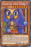 Equestria Chess Queen Luna (MLP): Yu-Gi-Oh! Card by PopPixieRex