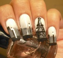 Paris Nail Art by aleidapinon