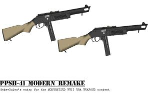 My Contest entry: Modern PPSh-41 by Geke-sulen