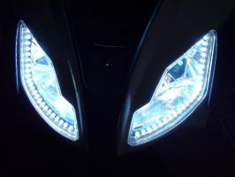 My White LED in my Aprilia SR by Jacopo93