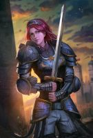 Lady knight by Timkongart