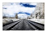 rails in ir by Torsten-Hufsky