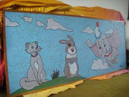 DUCHESS, THUMPER, DUMBO by paulbullmosaics
