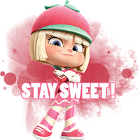 Wreck- It Ralph: Taffyta STAY SWEET ! png. by Vanellope-Schweeetz