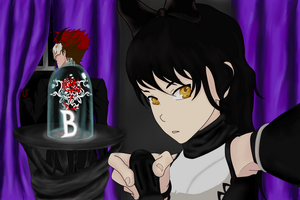 RWBY: Black (Blake and Adam) by ghost-of-truth