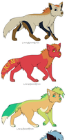color pallet adopts by emeradethedragon