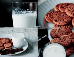 Cookies, milk and chocolate by M3LL0N-3M