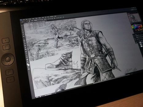 Argis and his master comic. Draw on the cintiq. :3 by aenaluck