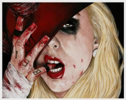 Maria Brink - In This Moment quick painting by D-E-V-I-A-N-T-A-R-T