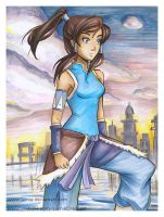 Copic Marker Avatar Korra by LemiaCrescent