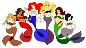Disney Mermaids by loish by AppreciatesArt