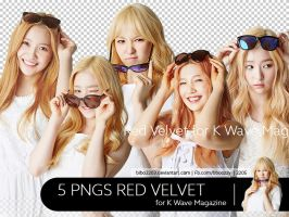 [HQ] 5 PNGS Red Velvet for K Wave Magazine by bibo2203