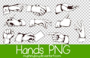 Vintage Hands PNG by MyShinyBoy
