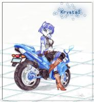 Krystal and her bike by BlackBy