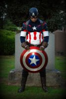 Variation of a Famous Captain America Pose by Elderjarl
