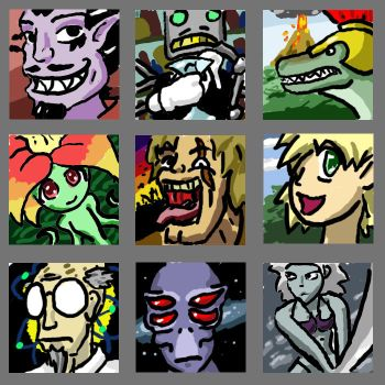9 avatars from the Generator by EscanInquisitor