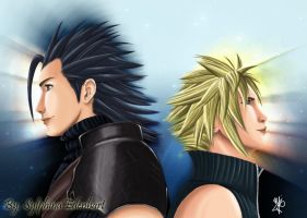 Zack and Cloud by SylphinaEdenhart