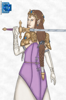 Princess Zelda 03042011 by BLUEamnesiac