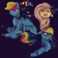 Rainbow Dash gets banned from butts by weepysheep