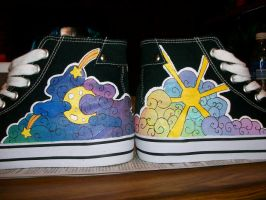 Shoes: Like Day and Night by MilesofCrochet