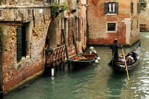 Venice - backwater gondola 1 by wildplaces