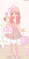 ~Me in Sweet Lolita Game (all pink version)~ by iAmBabyPeach