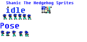Shanic The Hedgehog 2013 look sprites(DEMO) by SHANIC1295