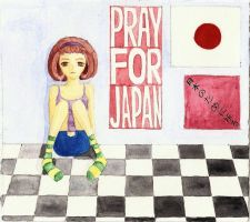 Pray For Japan by adwantic