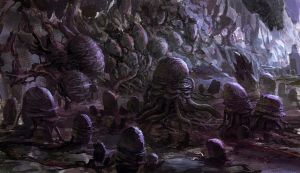 Alien Cave by MCfrog