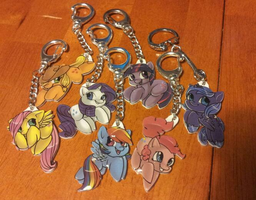 Mane Six and Luna chibi filly keychains - Wave 1 by Busoni