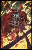 Spawn lake of fire by juan7fernandez