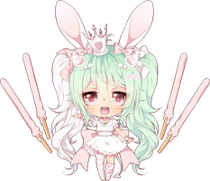 GO Mini Chibi :: Pocky Princess Minty bat by scricch