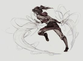 Korra Airbending by sleepy-KC