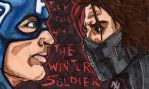 the winter soldier doodle card by Axxerous