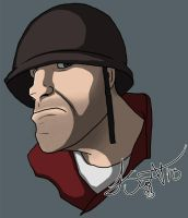 Day 13: RED Soldier by SnipeTheSorrow