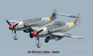 Rs Models : Me-609 Heavy fighter - bomber by rOEN911