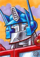 Optimus Prime Sketch Card by Chad73