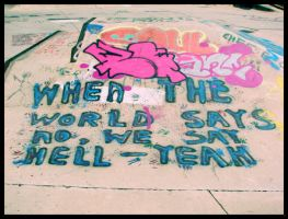 Graffiti? 'HELL-YEAH' by Juxtapose4me